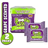 Boogie Wipes Natural Saline Nose Wipes for Kids and Babies, Grape, 90-Count