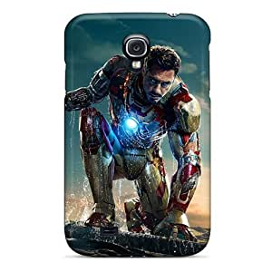 Great Cell-phone Hard Cover For Samsung Galaxy S4 With Custom Attractive Iron Man 3 New Skin IanJoeyPatricia