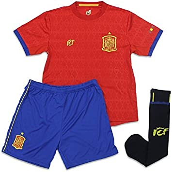 OFICIAL FEDERACION ESPAÑOLA DE FUTBOL (F.E.F.) Mini Kit Infantil Réplica Primera Equipación 2016 (14): Amazon.es: Deportes y aire libre