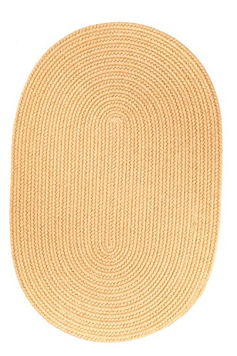 picture of Rhody Rug Solid Wool Rug, 8 by 11-Inch, Wheat
