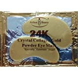 10/20/30/50/60/80/100 pairs wholesale New Crystal 24K Gold Powder Gel Collagen Eye Mask Masks Sheet Patch, Anti Ageing Aging, Remove Bags, Dark Circles & Puffiness, Skincare, Anti Wrinkle, Moisturising, Moisture, Hydrating, Uplifting, Whitening, Remove Blemishes & Blackheads Product. Firmer, Smoother, Tone, Regeneration Of Skin. Suitable For Home Use Hot or Cold. (10 pairs) by Hitece