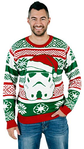 Star Wars Santa Stormtrooper Ugly Christmas Sweater (Large) (Ugly Xmas Sweaters For Men)