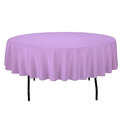 Beautiful LinenTablecloth 90 Inch Round Polyester Tablecloth Lavender
