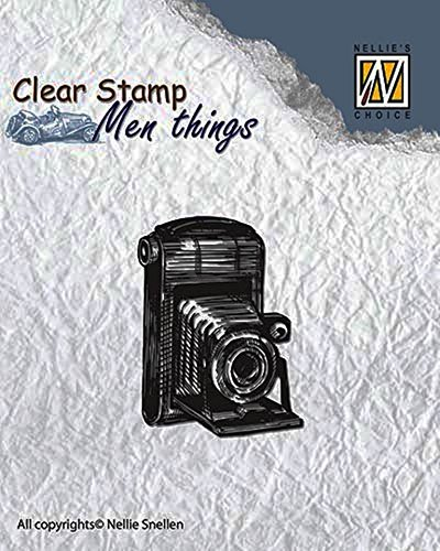 Nellie Snellen CSMT001 Clear stamps Men Things camera 40x30mm