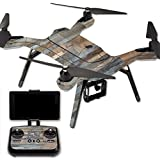 MightySkins Protective Vinyl Skin Decal for 3DR Solo Drone Quadcopter wrap cover sticker skins Gray Wood