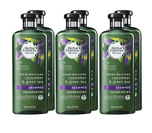 Moisture Essence - Herbal Essences Biorenew Cucumber & Green Tea Sheer Moisture Shampoo, 13.5 FL OZ (Pack of 6)