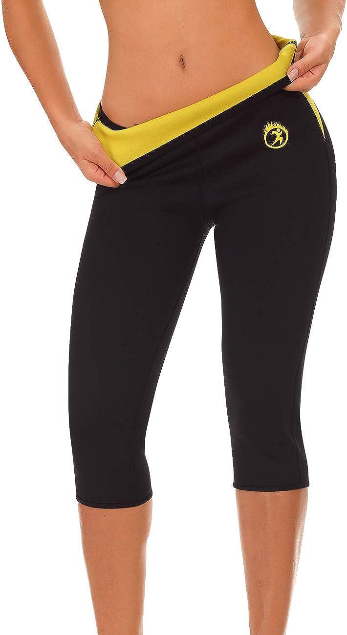 NINGMI Femmes Pantalons N/éopr/ène Chaud Thermo Minceur Legging Sudation Pantalon pour Fitness Sport Gym
