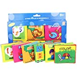 Baby's First Non-Toxic Soft Cloth Book Set- Squeak, Rattle, Crinkle - Pack of 6