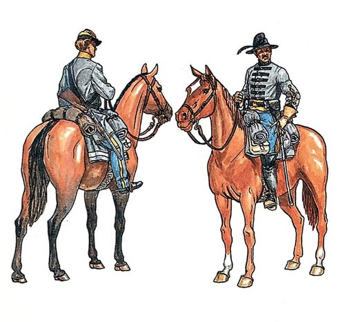 Italeri 510006011 1:72 Konföderierten Kavallerie