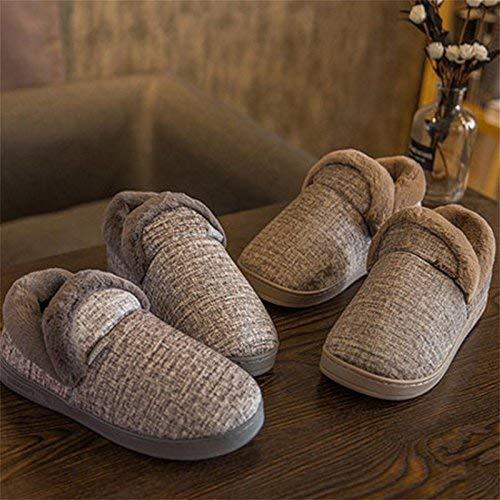 Männer Winter Warm Slippers dick Gepolsterte Gepolsterte dick Plüsch Fleece Indoor Cotton Schuhe Rutschfeste Sohle, 43 (Farbe   -, Größe   -) 24337d