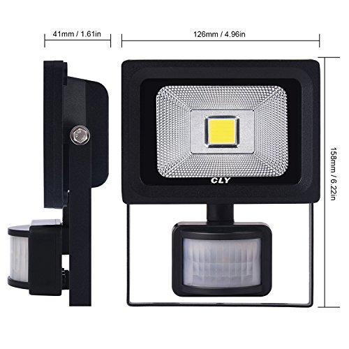 Cly Motion Sensor Led Flood Light 900 Lumens Cool White