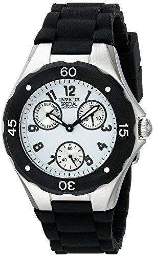 Invicta Women's 18787 Angel Stainless Steel Watch With Black Silicone Band