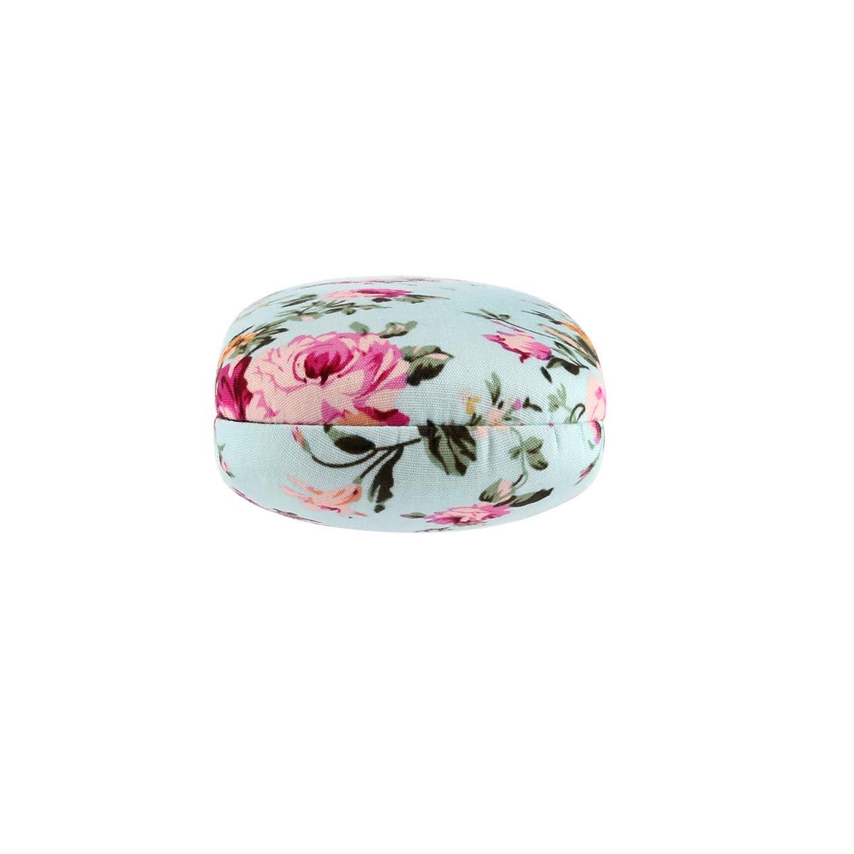 EZESO Fabrics Floral Retro Light Portable Eyeglasses Case (2 pcs blue+pink) by Ezeso (Image #7)