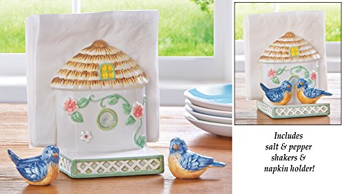 Birdhouse Napkin Holder Pepper Shakers