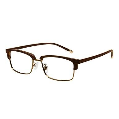 7cc7317ec0 Xinvision Women Men Vintage Retro Classic TR90 Half Frame Horn Rimmed  Business Glasses Semi-Rimless