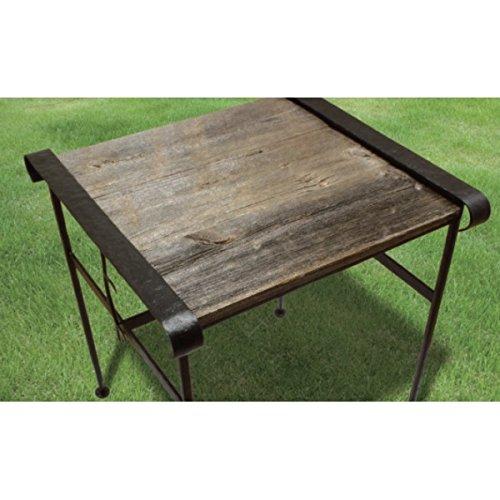 オンリーワン アイアン+バーンウッドテーブル(小) 『ガーデンテーブル』 バーンブラック NA5-T02BB B00PRRGPLY