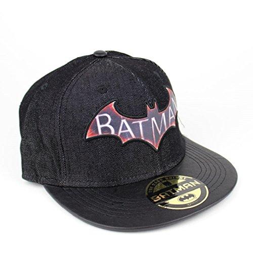 Batman logo gorra para Hombre - Arkham Knight gorra snapback de denim