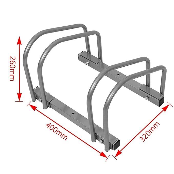 LARS360/® Fahrradst/änder f/ür 2 Fahrr/äder Boden und Wandmontage Mehrfachst/änder Twin Bicycle Stand Silber