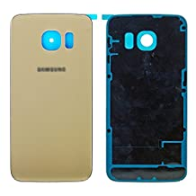 ProMobile Original Glass Samsung Galaxy S6 Back Glass Replacement Cover |SimpleHousing & Adhesive Preinstalled Part | Glass Panel Case for S6 SM-G920W8, S6 SM-G920A, SMG-920V, SM-G920R4 &SM-G920F (Gold Platinum)