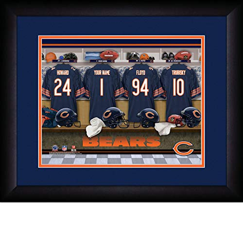 Chicago Bears Team Locker Room Personalized Jersey Officially Licensed NFL Sports Photo 11 x 14 Print ()