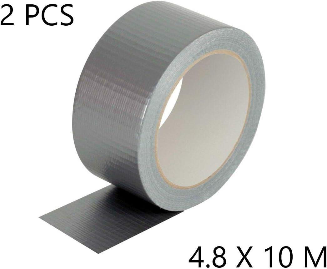 Resistente Alta calidad EUROXANTY/® Cinta Americana Gris 4.8 X 5 M, 1 PCS Tuber/ías Pl/ástico | Cajas Cinta Adhesiva Plata
