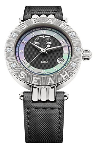 Seah-Empyrean-Zodiac-sign-Libra-Limited-Edition-42mm-Silver-Tone-Swiss-Made-Automatic-Diamond-watch