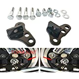AJP Distributors Replacement 2-3 Adjustable Black Rear Suspension Leveling Lowering Drop Shackles For Ford F150 2004 2005 2006 2007 2008 2009 2010 2011 2012 2013 2014 04 05 07 08 09 11 12 13 14