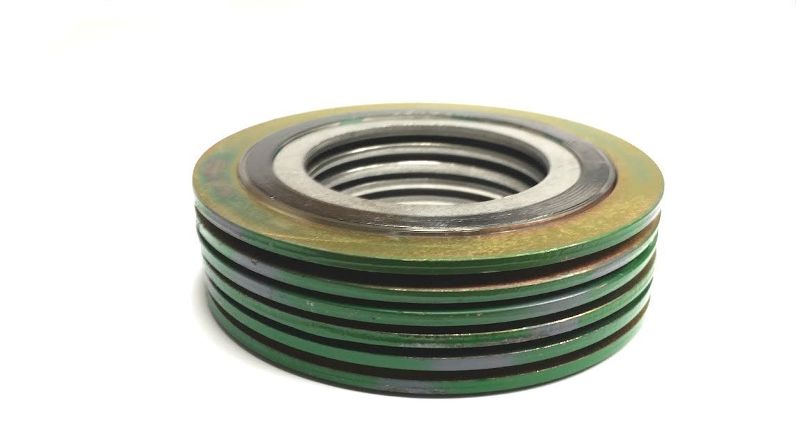 of NJ Pack of 6 for 5 Pipe Supplied by Sur-Seal Inc Pressure Class 600# for 5 Pipe Sterling Seal 9000IR5316GR600X6 316L Stainless Steel Spiral Wound Gasket with 316SS Inner Ring and Flexible Graphite Filler Green Band with Grey Stripes