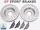GT SPORT BRAKE DISCS GT0205 + PADS SEAT IBIZA IV 2002 2003 2004 2005 2006 2007 2008 FRONT 239 MM