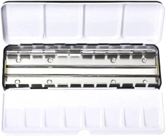 ULTNICE: caja vacía metálica para acuarelas que también sirve de paleta, con 24 divisiones: Amazon.es: Hogar