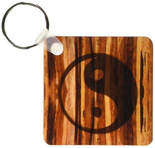 3d Rose 3dRose Branded Wood Print Ying and Yang Symbol - ...