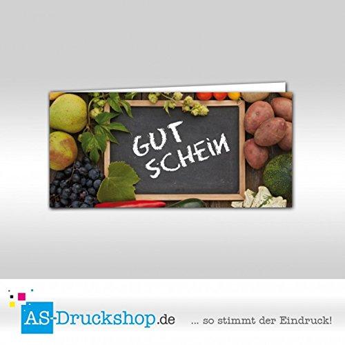Gutschein Hofladen - Markt   100 Stück   DIN Lang B0794Z7DK7 | Neues Design