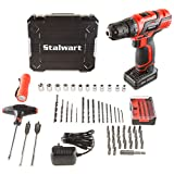 Stalwart 75-PT1004 20V Lithium Ion 62 Pieces Cordless Drill & Accessory Kit