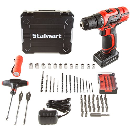 (Stalwart 75-PT1004 20V Lithium Ion 62 Pc Cordless Drill & Accessory)