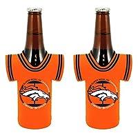 NFL Denver Broncos 2015 - 2016 Super Bowl 50 Champions Beverage Drink Holder Coolers - Pick Style (Bottle Jersey 2-Pack)