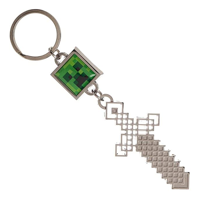 Minecraft - Llavero con diseño de cara sonriente (metal ...