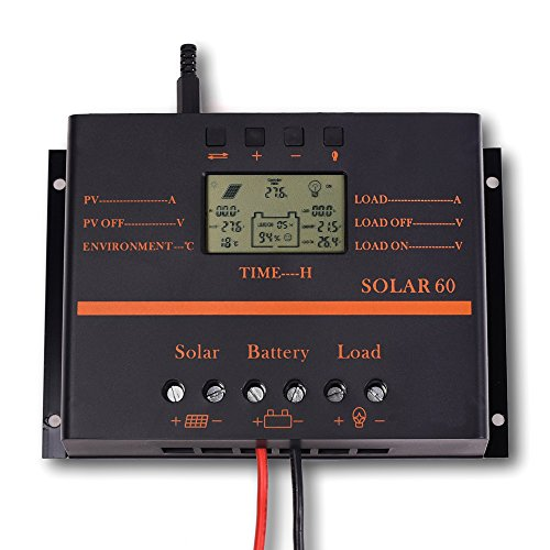 SOLAR MPPT LCD 80A Solar Charge Controller 12V/24V PV Panel Battery Charge Regulator 80amp with 5V USB Output (80A) by SOLAR MPPT