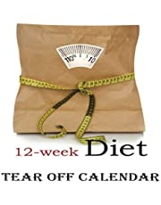 12-Week Diet Tear-Off Large Wall Calendar