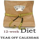 12-Week Diet Tear-Off Large Wall Calendar