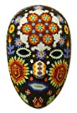 NOVICA Decorative Huichol Beaded Papier Mache Mask, Multicolor, Jicuri Dance'