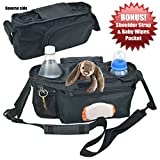 Kyпить Universal Stroller Organizer with Easy Access to Wipes - Perfectly Sized Zipper Pockets & Insulated Cup Holders - Jogging Bag Accessories for Moms by Angel Baby на Amazon.com