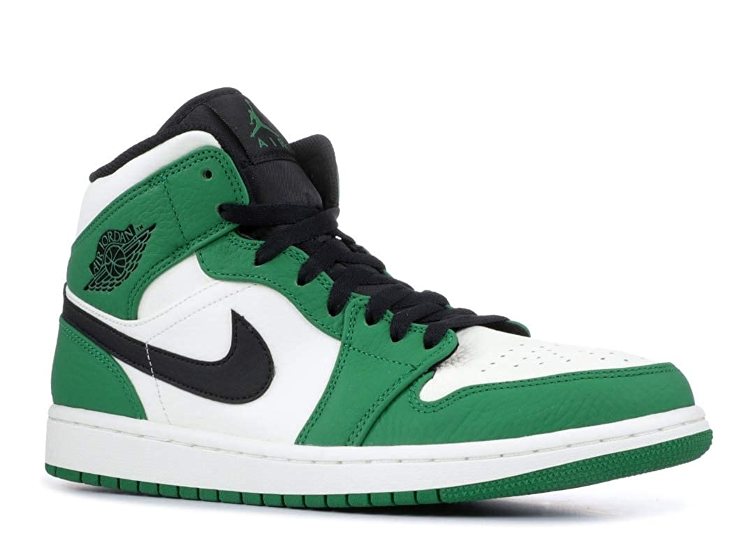 big sale ebe98 05a10 Amazon.com   Jordan Air Jordan 1 Mid SE Mens - Pine Green Sail Black - 44  EU   Shoes