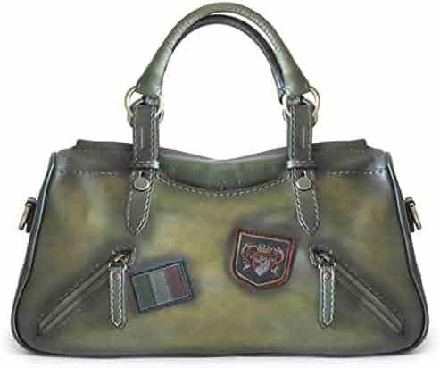 ec1b84da5074 Pratesi Womens Italian Leather Abetone Large Handbag Tote in Cow Leather