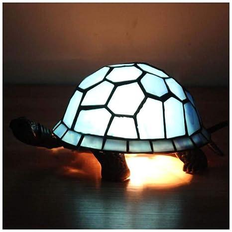 YYF Lámpara de mesa europea retro azul tortuga - bar/casa ...