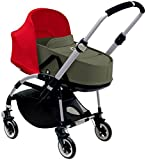 Bugaboo Bee3 Bassinet & Sun Canopy - Red - Dark Khaki
