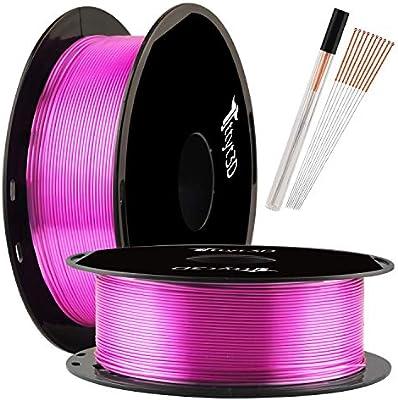 Filamento PLA para impresora 3D TTYT3D Silk Shine, color morado, 1 ...