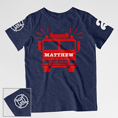 Firetruck Birthday Shirt by Conch District