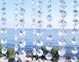 Cheap 6ft Clear Crystal Glass Chandelier Chain