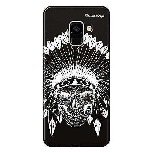 Capa Grafite Personalizada Samsung Galaxy A8 Plus A730F - Índio Caveira - GF06