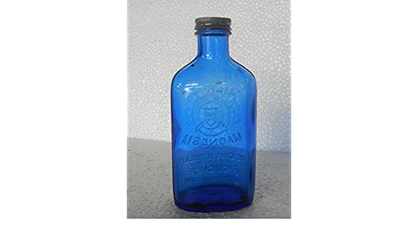 Amazon.com: Vintage Phillips Milk Of Magnesia Glass Bottle, Original Cap: Home & Kitchen